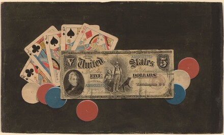 Trompe l'Oeil: A Full House with Chips and a $5 Bill