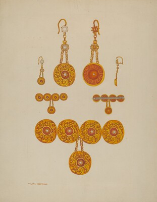 Earrings and Brooch