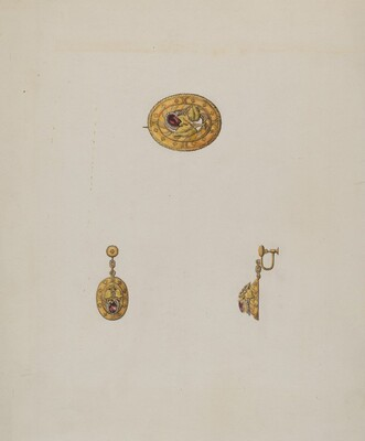 Pin and Earring Set