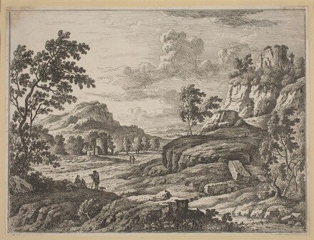 Landscape with Two Ruined Towers