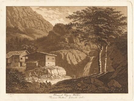 Unweit Visp in Wallis / Thomas Platters Geburts Ort