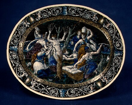 Oval Dish with the Birth of Adonis
