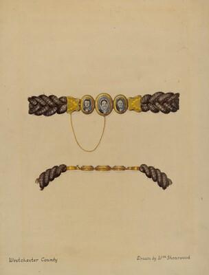 Hair Brooch and Bracelet
