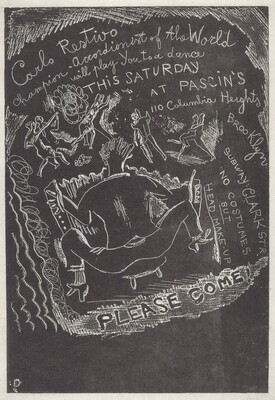 Untitled (Invitation to Party at Jules Pascin's)