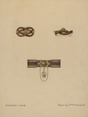 Brooch and Bracelet with Portrait