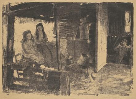Untitled (2 girls in a barn)