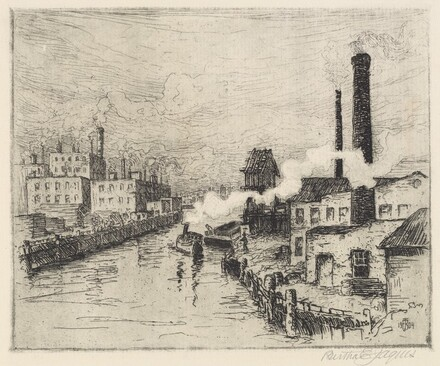 Factories on the Chicago River