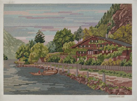 Landscape in Petit Point