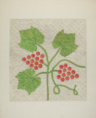 Quilt - Grape Pattern