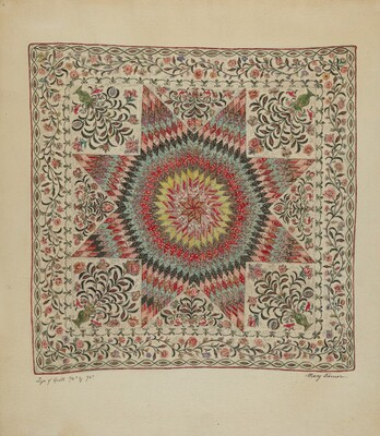Patchwork and Applique Quilt
