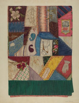Crazy Quilt (Section of)