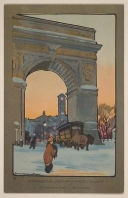 Washington Arch at Winter Twilight