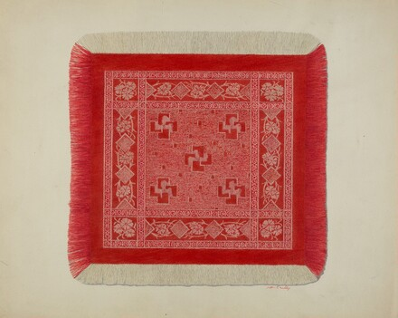 Red and White Napkin
