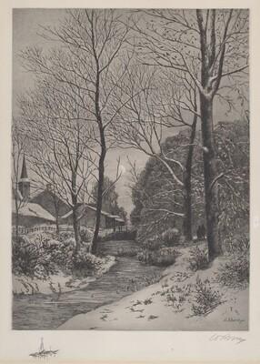 Moonlit Stroll in Winter