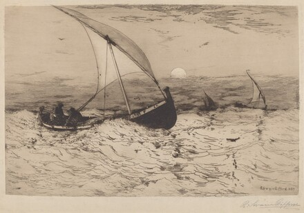 Neapolitan Fishing Boats Returning Home