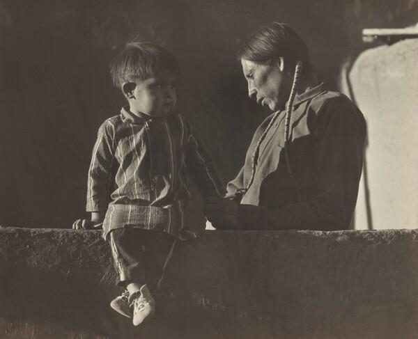 Adam Trujillo and His Son Pat, Taos