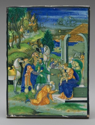 Panel with the Adoration of the Magi