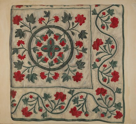 Quilt (Flowers in Circle)