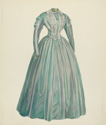 Lavender Taffeta Dress