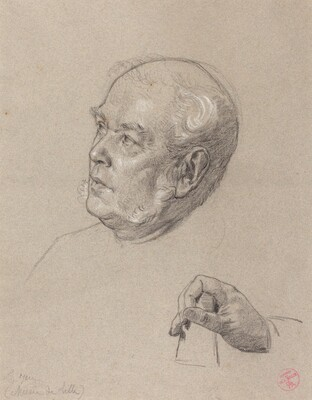 Head and Hand of a Man Throwing Dice