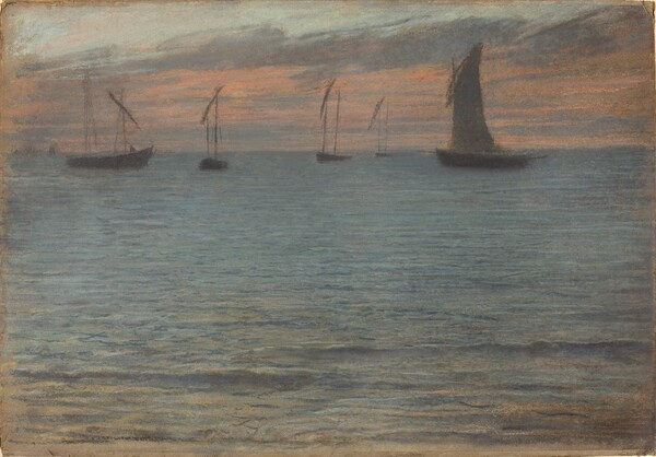 A Seascape at Sunset