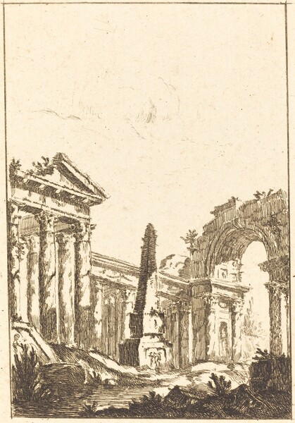 Capriccio with Ruins and an Obelisk