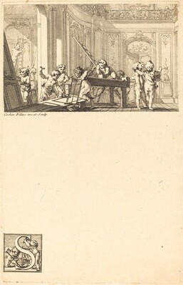 Putti Preparing the Interior Decoration of a Mansion