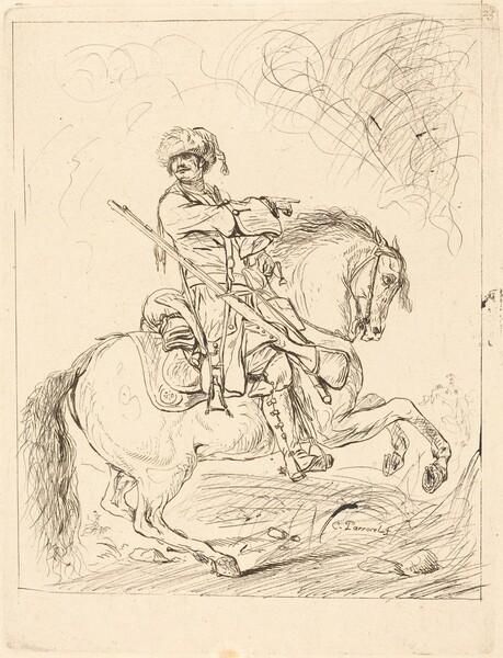 A Dragoon on Horseback