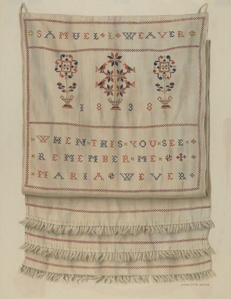 Pennsylvania German Show Towel