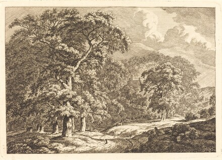 Forest with Travelers by a Road