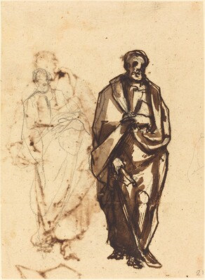 Draped Figure with a Staff