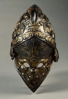 The Morosini Helmet (visored burgonet)