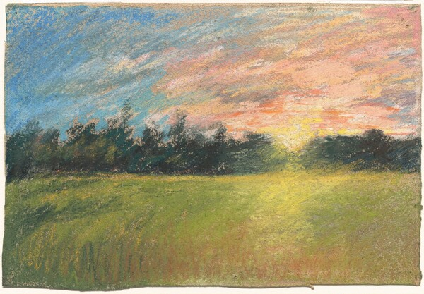 A Meadow at Sunset