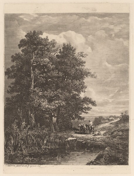 Riders by a Pond