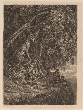 Couple Resting on a Cliff