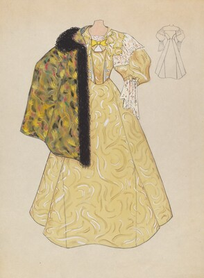 Evening Dress and Cape