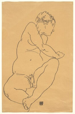 Female Nude Bending to the Left