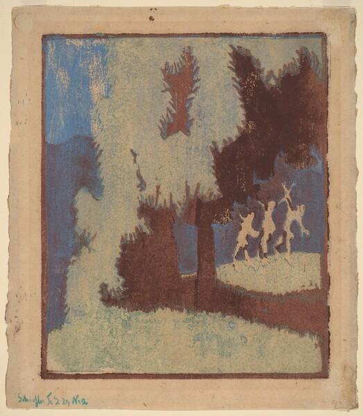 Chestnut Trees in Moonlight