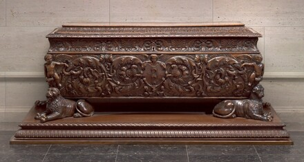 Walnut Cassone made for Strozzi Family