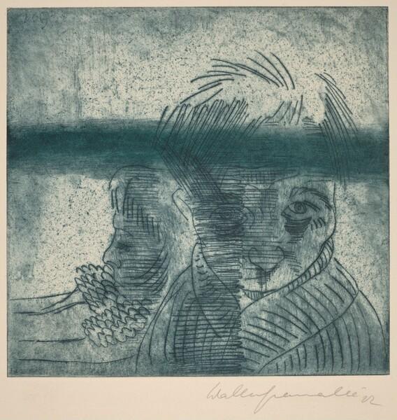 The Couple, Self-Portrait with Wife (Das Paar, Selbstporträt mit Frau)