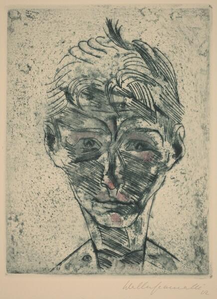 Bust of a Young Man, Self-portrait (Knabenkopf, Selbstporträt)