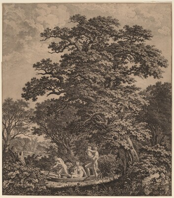 Landscape with Nudes Boarding a Boat