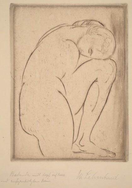 Badende mit Kopf auf Knie (Bather with Her Head on Her Knee)