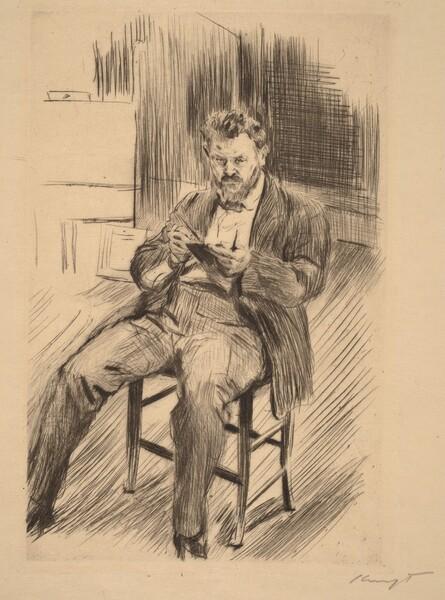 Self-Portrait (sketching in his studio)