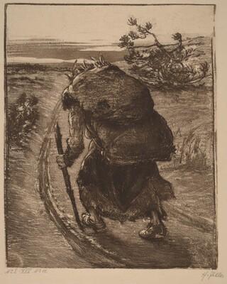 A Woman Carrying a Bundle of Sticks