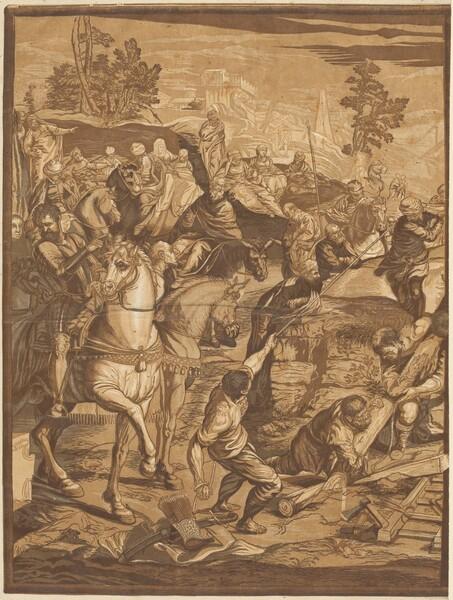 The Crucifixion (left panel)