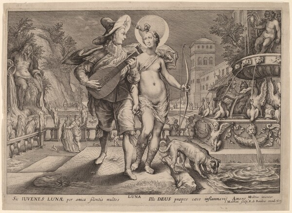 Diana as Luna Accompanying a Young Man Serenading