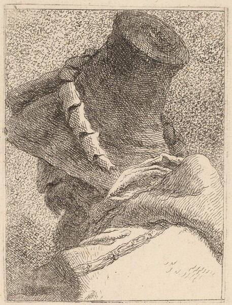 Profile of an Old Man with a Hat