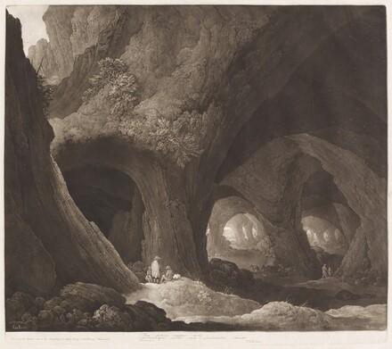 Travelers in Gigantic Caverns (after Guillam Dubois)