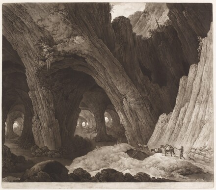 Travelers Resting in Gigantic Caverns (after Guillam Dubois)